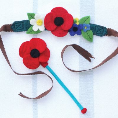 MEADOW FAIRY CROWN AND WAND CHILDRENS DRESSING UP SET
