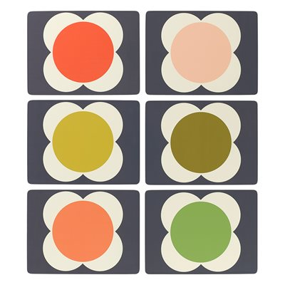 ORLA KIELY FLOWER SPOT PLACEMATS - Set of 6