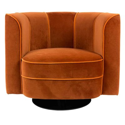 DUTCHBONE ART NOUVEAU TUB CHAIR in Orange
