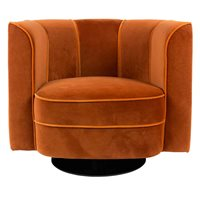 DUTCHBONE ART NOUVEAU FLOWER TUB CHAIR in Orange