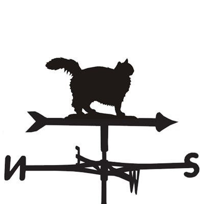 WEATHERVANE in Fluffy Cat Design