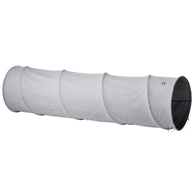Children's Grey Cotton Canvas Playtunnel