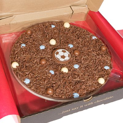 """Image of 10"""" FOOTBALL PIZZA by The Gourmet Chocolate Pizza Company"""