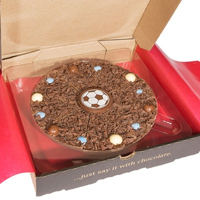 "7"" FOOTBALL PIZZA by The Gourmet Chocolate Pizza Company"