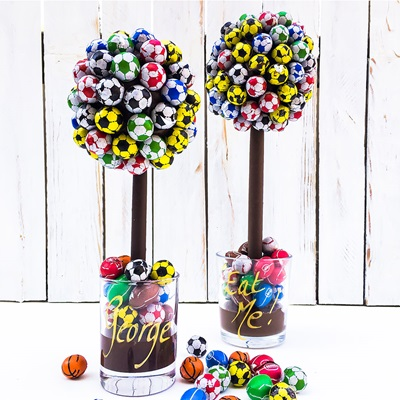 PERSONALISED CHOCOLATE FOOTBALL SWEET TREE
