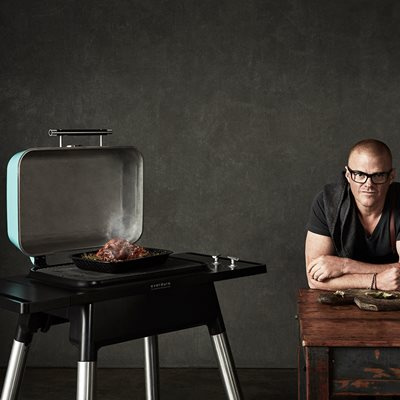 EVERDURE BY HESTON BLUMENTHAL FORCE GAS BBQ in Mint