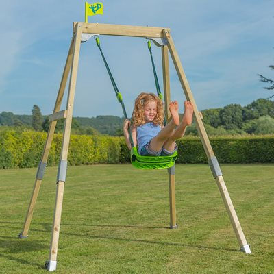 TP TOYS FOREST ACORN GROWABLE SWING SET with Quadpod Seat