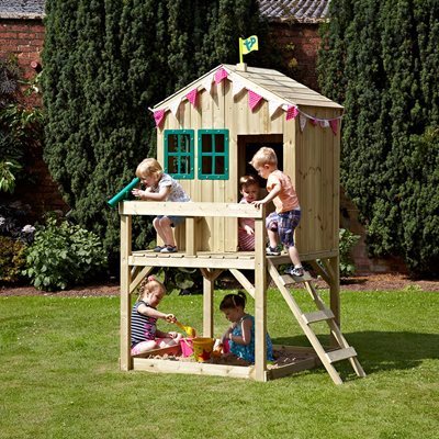 TP TOYS CHILDRENS FOREST COTTAGE WOODEN PLAYHOUSE