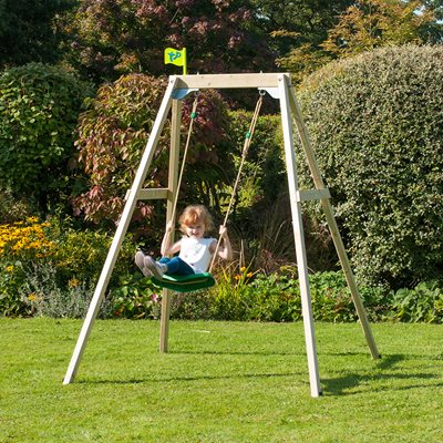 TP TOYS FOREST SINGLE WOODEN SWING SET
