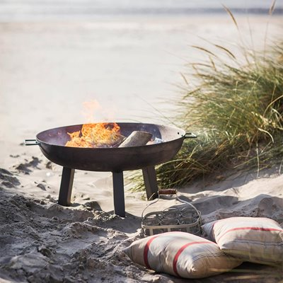 GARDEN TRADING FOSCOT OUTDOOR FIRE PIT in Raw Steel