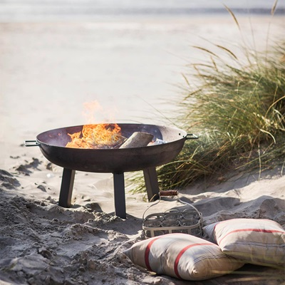 FOSCOT OUTDOOR FIRE PIT in Raw Steel