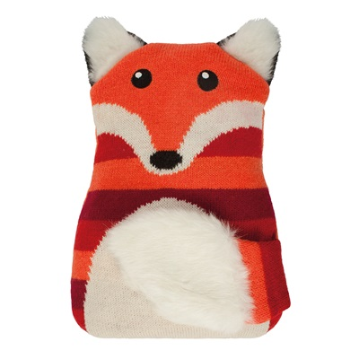 AROMA HOME FOX KNITTED HOTTIE