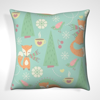 CUSHION in Forest Fox Design