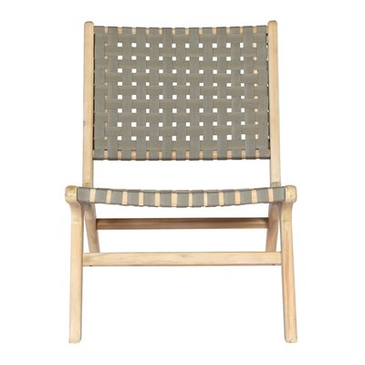 Frame Woven Garden Chair in Olive Green by Woood