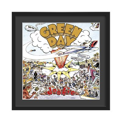 GREEN DAY FRAMED ALBUM WALL ART in Dookie Print