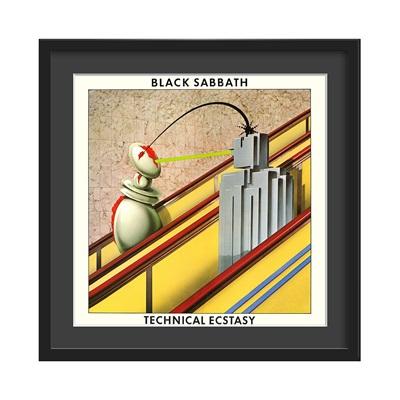 BLACK SABBATH FRAMED ALBUM WALL ART in Technical Ectasy Print