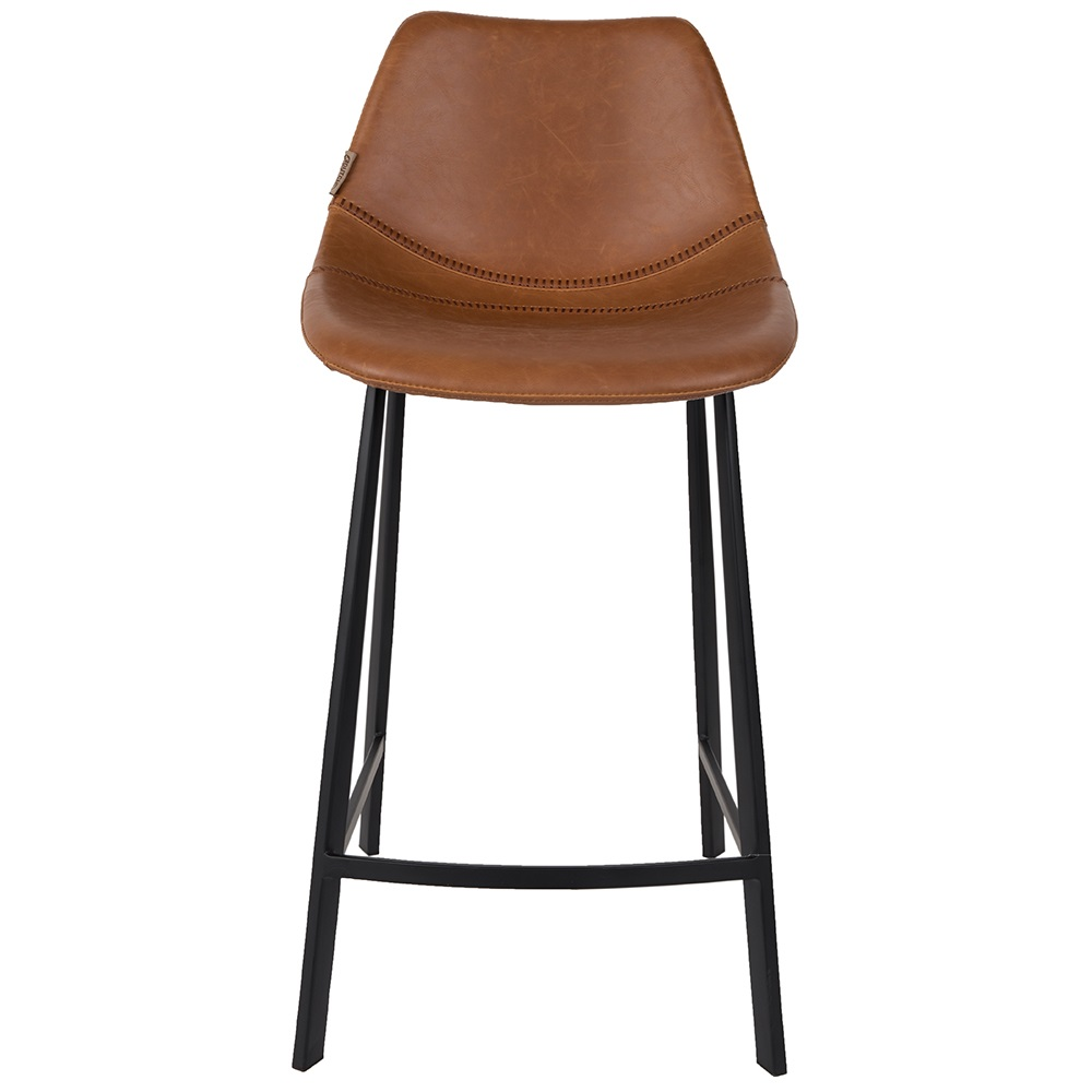 Set Of 2 Franky Counter Bar Stools In Brown Bar Stools Cuckooland