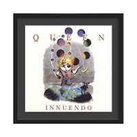 QUEEN FRAMED ALBUM WALL ART in Innuendo Print  Large