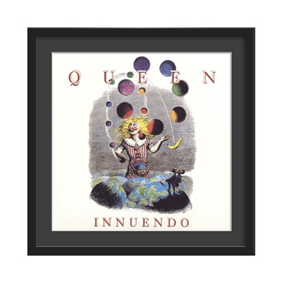 QUEEN FRAMED ALBUM WALL ART in Innuendo Print