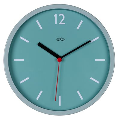 RETRO STYLE WALL CLOCK in French Blue