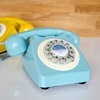 French Blue Retro Telephone
