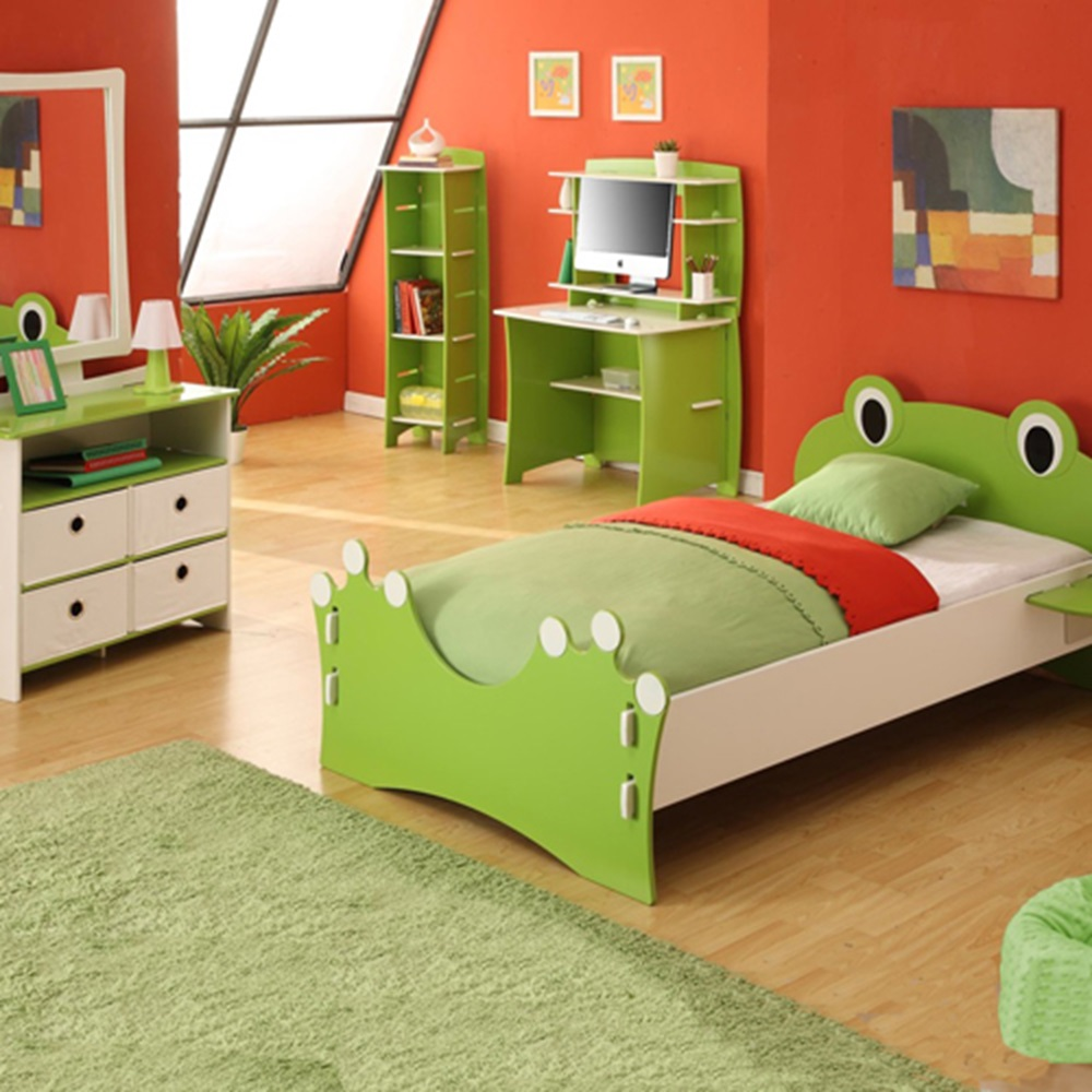 Easy fit kids bed in 39 frog collection 39 design beds for Frog bedroom ideas
