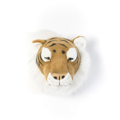 Felix the Tiger Kids Plush Animal Head Wall Decor