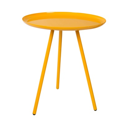 FROST ROUND SIDE TABLE in Tangerine