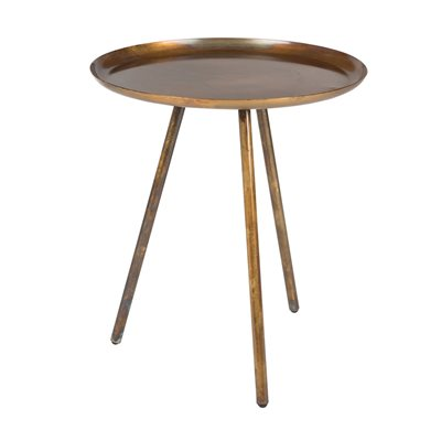 FROST ROUND SIDE TABLE in Copper