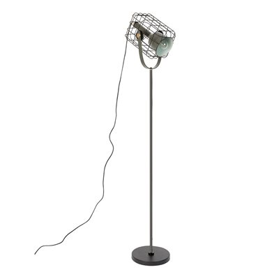 Image of Cage Floor Lamp in Black