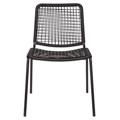 SIL RATTAN DINING CHAIR in Black
