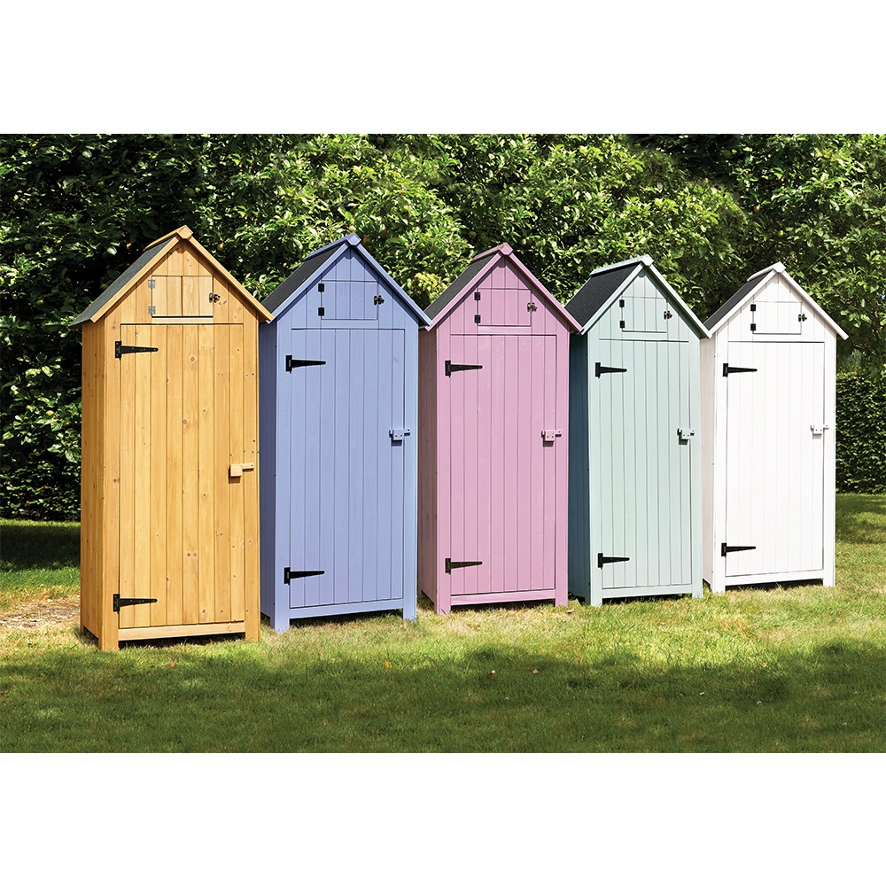 Beach hut tool shed in green garden sheds cuckooland for Garden hut sale