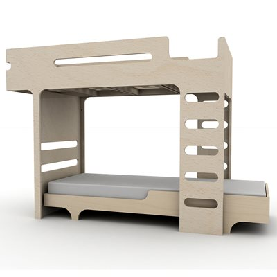 F & A DESIGNER KIDS BUNK BED in Natural