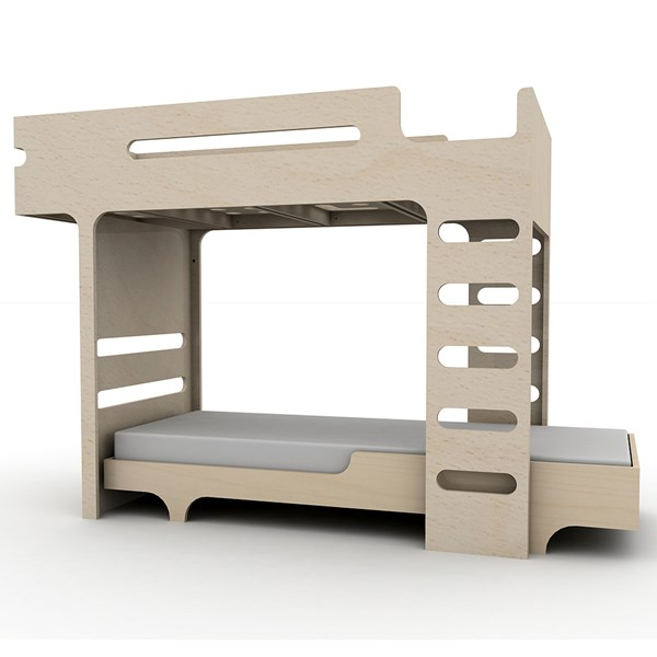 Natural Wood Bunk Bed