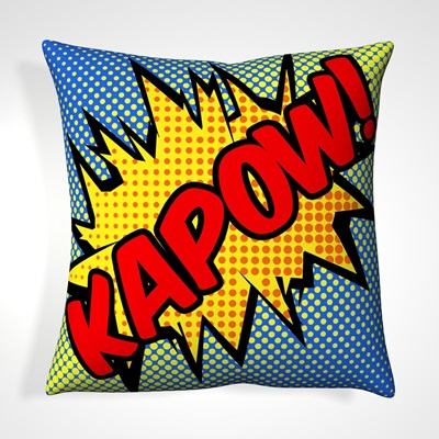 CUSHION in Retro Kapow Design