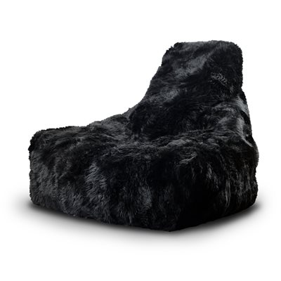 Extreme Lounging Mighty B Sheepskin Fur Bean Bag in Black
