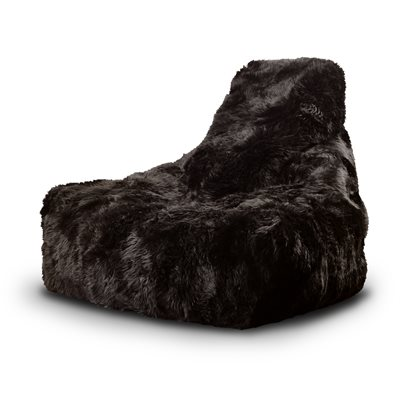 EXTREME LOUNGING MIGHTY B SHEEPSKIN FUR BEAN BAG in Brown