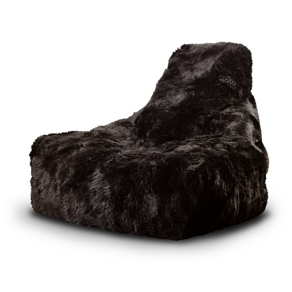 Mighty Sheepskin Fur Bean Bag in Brown