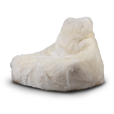 EXTREME LOUNGING MIGHTY B SHEEPSKIN FUR BEAN BAG in Cream