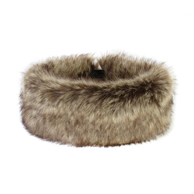 FAUX FUR HEADBAND HUFF in Luxury Truffle