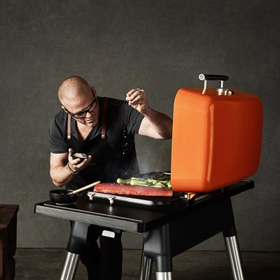 EVERDURE BY HESTON BLUMENTHAL FURNACE GAS BBQ in Orange