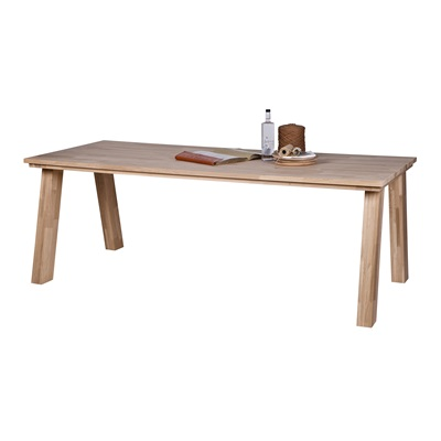 CLASSIC SOLID 8 SEAT OAK DINING TABLE in Almond