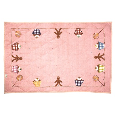GINGERBREAD COTTAGE Small Floor Quilt by Win Green