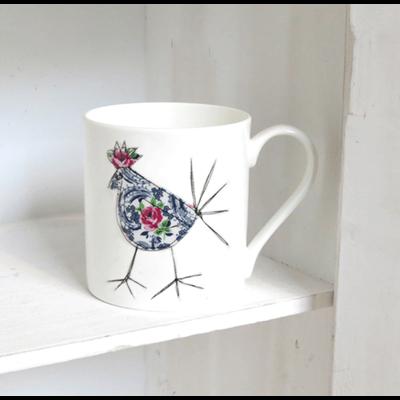 GLADYS CHICKEN Mug by Textile Studios