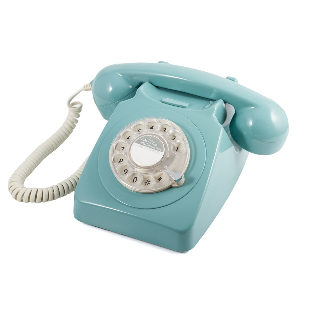 746 retro rotary dial phone in french blue unique gifts cuckooland. Black Bedroom Furniture Sets. Home Design Ideas