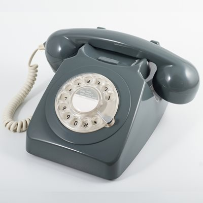 746 RETRO ROTARY DIAL PHONE in Grey