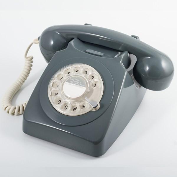Retro Style Telephone in Grey