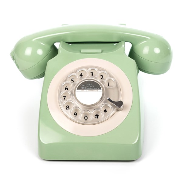 Stylish Retro Telephone in Mint