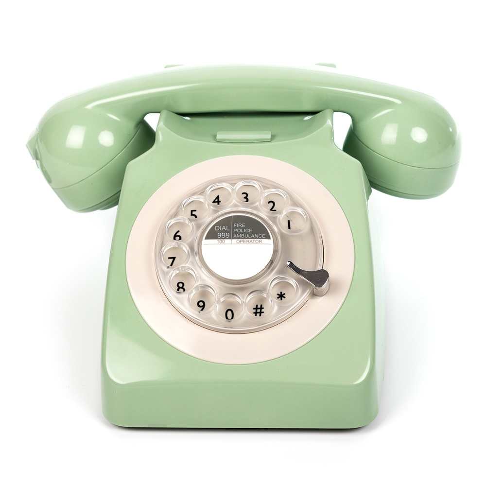746 retro rotary dial phone in mint retro gifts cuckooland. Black Bedroom Furniture Sets. Home Design Ideas