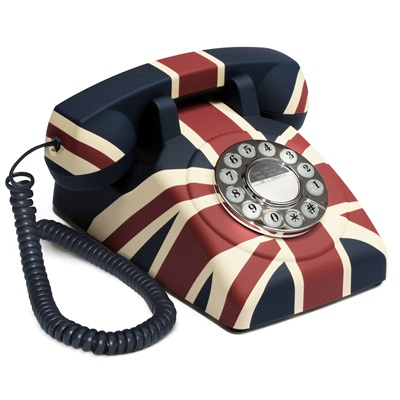 RETRO TELEPHONE in Union Jack Design